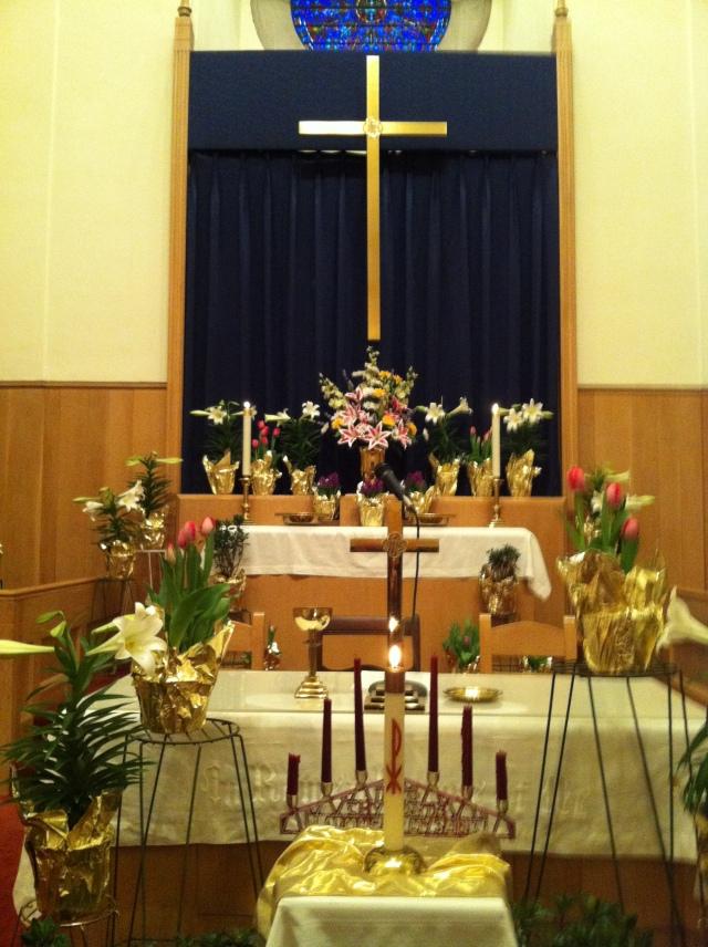 WACC Easter Surise altar